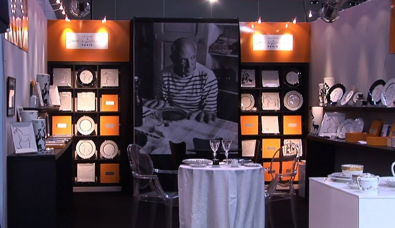 exhibition design picasso porcelain paris marc de ladoucette scenography salon
