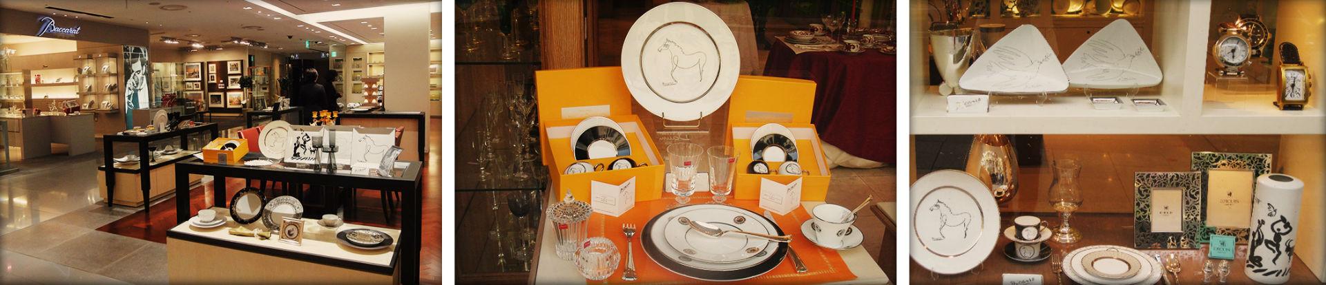 porcelain paris picasso plates shop scenography luxe luxury