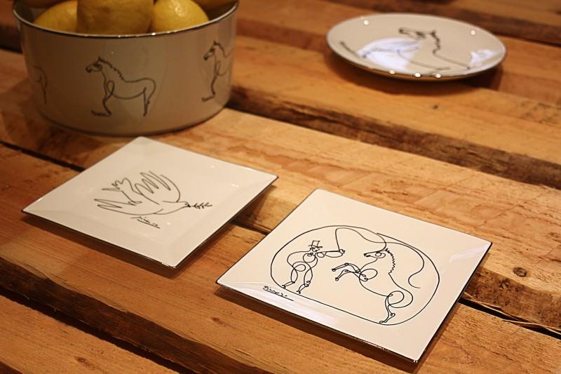 porcelain plate drawing picasso scenography hotel sofitel paris france marc de ladoucette