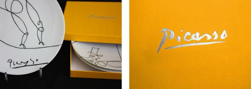 gift gift box picasso set of plates marc de ladoucette paris signature packaging
