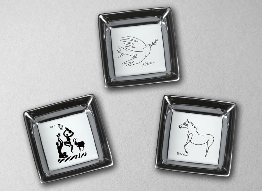 Pin-tray Bridge horse dove dancer picasso porcelain marc de ladoucette luxe luxury paris france design