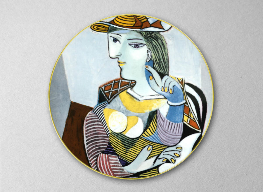 Picasso Marie Therese porcelain color colored picasso museum plate luxe luxury marc de ladoucette paris france