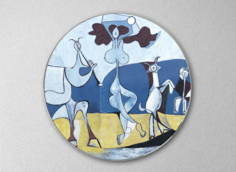 Picasso porcelain color colored picasso museum plate luxe luxury marc de ladoucette paris france