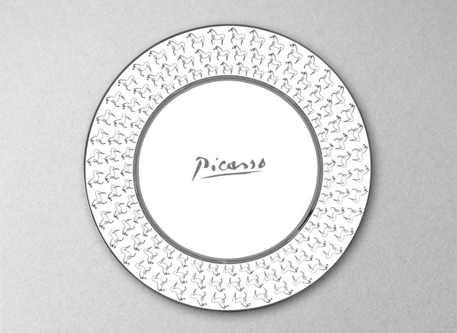 Picasso porcelain plate luxe luxury signature horse pattern marc de ladoucette paris france