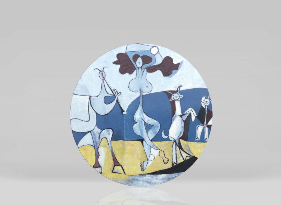 Picasso porcelain color colored picasso museum plate luxe luxury marc de ladoucette paris france