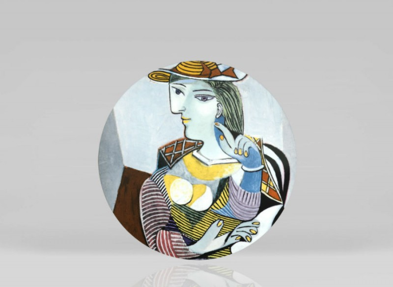 Picasso Marie Therese porcelain color colored picasso museum plate luxe luxury marc de ladoucette paris france
