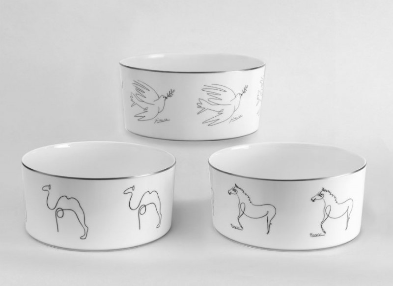 Porcelain picasso bowl candle candles camel horse dove luxe luxury marc de ladoucette