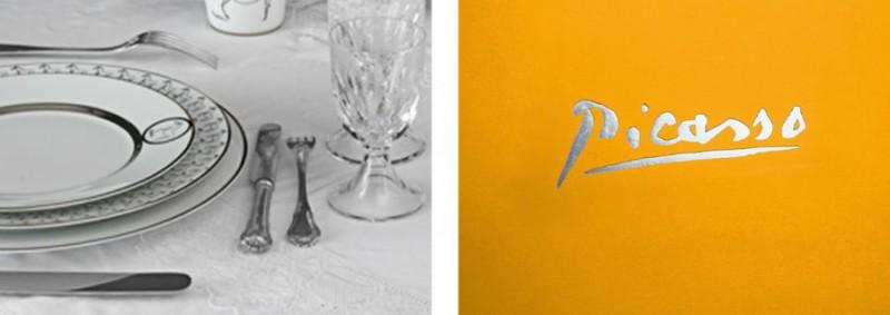 picaso plates set signature scenography pictures art de la table white table