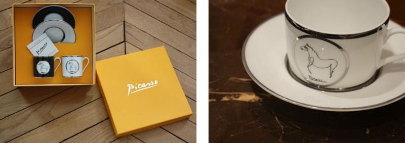 porcelain picasso glasses tea coffee marc de ladoucette luxury paris france