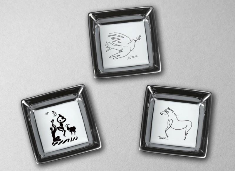 bridge picasso cheval dessin danse dove colombe porcelaine cadeau d'affaire marc de ladoucette luxe cadeau noel mariage