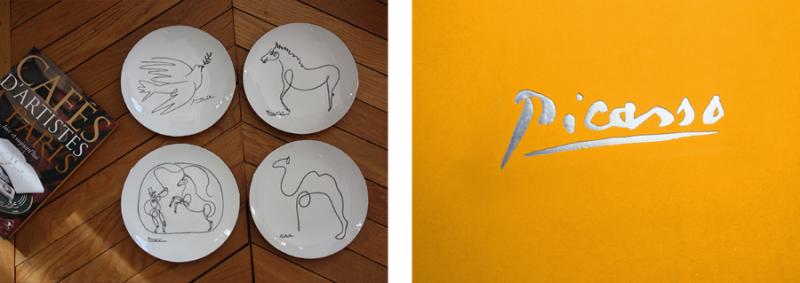 Assiette porcelaine paris interieur parisien picasso cheval cadeau d'affaire