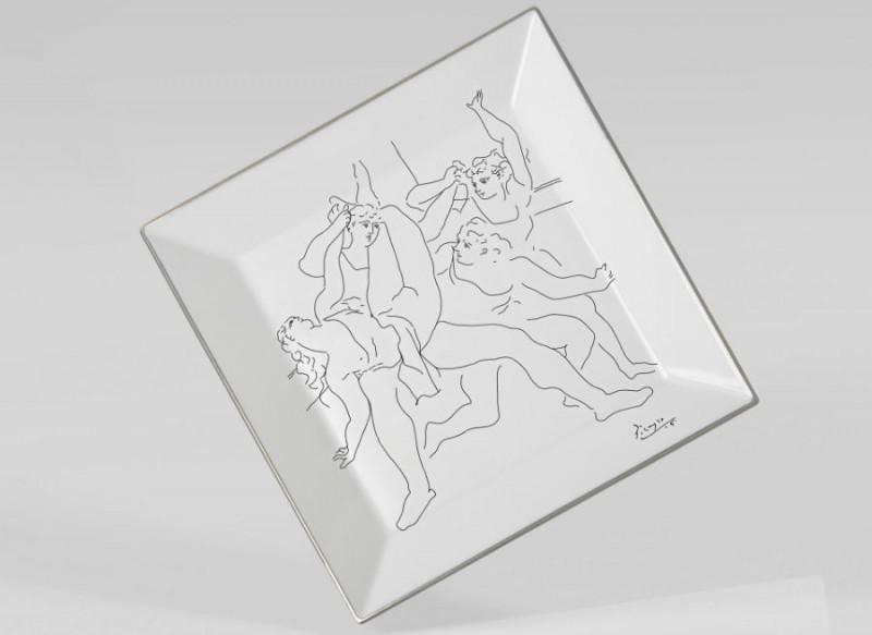 Marc de ladoucette porcelaine paris picasso dessin noir et blanc luxe art de la table