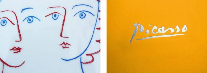 detail picasso assiette marc de ladoucette porcelaine picasso paris luxe signature marc de ladoucette